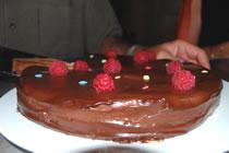 Framboises chocolat